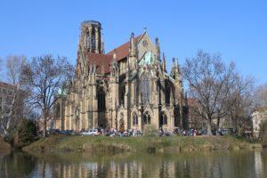 Johanneskirche - Vista sul laghetto
