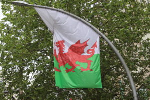 Una delle bandoiere del Galles