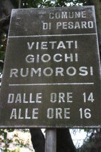 Cartello al Parco Molaroni