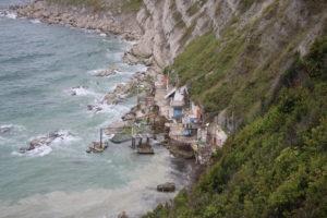Grotte del Passetto - vista dalla scogliera