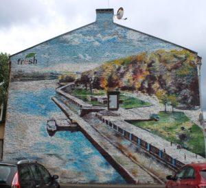 Bel murale a Gomel