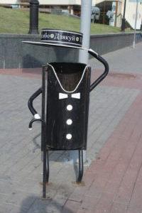 Cestino dei rifiuti a Grodno
