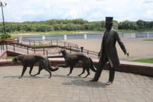 Conte Paskevich con i suoi cani