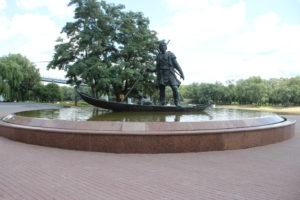 Statua-Fontana Pioneer