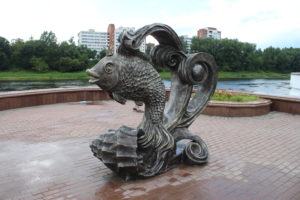 Statua di un pesce