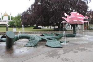 Folkets Park - Fontana a forma di Rosa