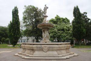 Fontana al centro dell'Hessenpark