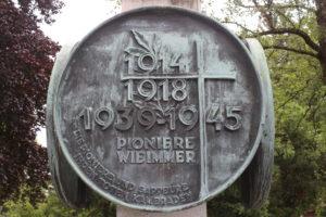 Monumento per le vittime delle guerre mondiali - dettaglio