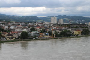 Vista su Linz dallo Schlossmuseum