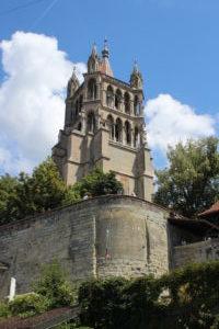 Cattedrale di Losanna - uno scorcio dal basso