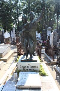 Esempio di tomba bizzarra al Cimitero di Belgrado