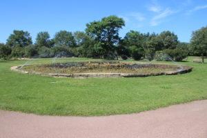 Fontana all'ingresso del Parco Fausto Noce