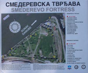 Fortezza di Smederevo - mappa
