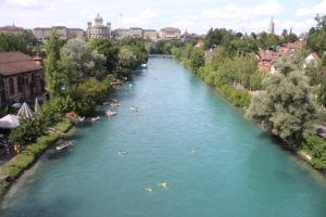 Il fiume Aar dall'alto del ponte
