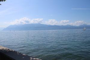 Lago Lemano - l'orizzonte