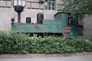 Locomotiva di fronte al Museo della Ferrovia