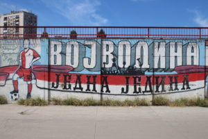 Stadio Karadjordjev di Novi Sad - uno dei murales