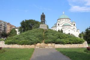 Vista d'insieme di Karadjordje e del Tempio di San Sava