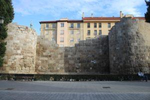 Resti di Mura Romane a Saragozza