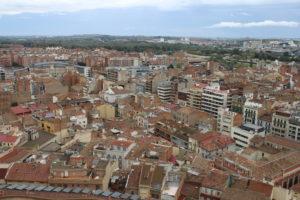 Vista di Lleida dalla Collina della Cattedrale Antica