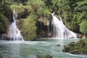 Cascata del fiume Cahabon - dettaglio