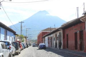 Panorama che si ha camminando per Antigua