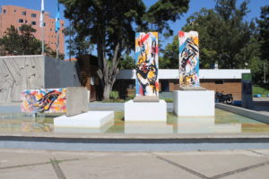 Plaza Berlin - pezzi originali del muro