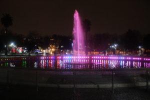 Fontana Sultan Ahmad - vista notturna