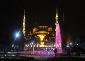 Moschea Blu - vista notturna