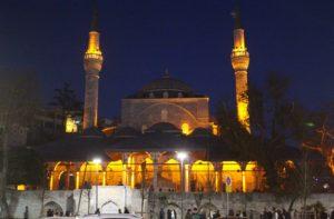 Moschea Mihrimah Sultan - vista notturna