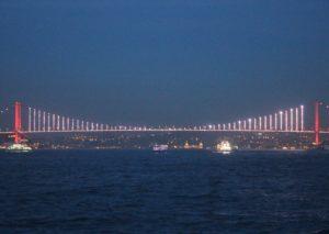 Ponte per le Vittime del 15 Luglio - vista notturna
