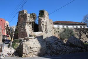 Antiche Mura crollate dopo il terremoto