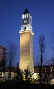 Torre dell'Orologio dopo il tramonto