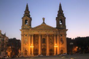 St. Publius Church in notturna