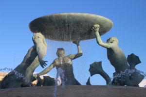 Triton Fountain - dettaglio