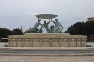 Triton Fountain - vista da vicino