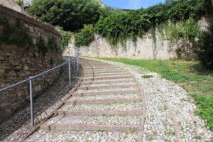 Esempio di scalini dolci di Spoleto