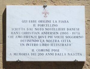 Fontana del Porcellino - Targa Commemorativa