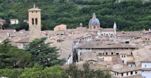 Panorama su Spoleto dalla Rocca Albornoz