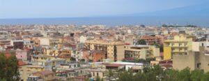 Panoramica su Reggio Calabria da Via Reggio Campi