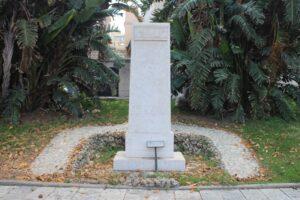 Stele dedicata a Giovanni Pascoli