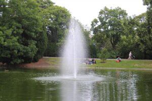 Fontana a zampillo nel laghetto