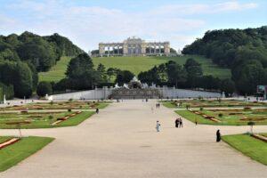 Schonbrunn - panoramica del giardino