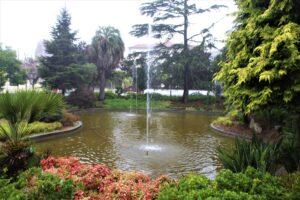 Laghetto con zampilli di Jardim do Campo 24 do Agosto
