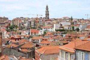 Vista sui tetti di Porto