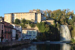 Cascata Grande e Castello Boncompagni Viscogliosi
