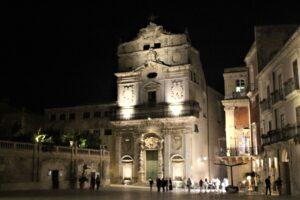 Chiesa di Santa Lucia alla Badia di sera