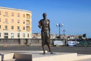Statua di Archimede - dettaglio