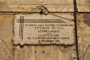 Targa sulla Casa Natale di Vittorio de Sica
