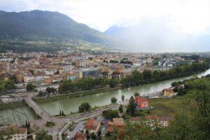 Vista di Trento dalla Collina del Dos Trent